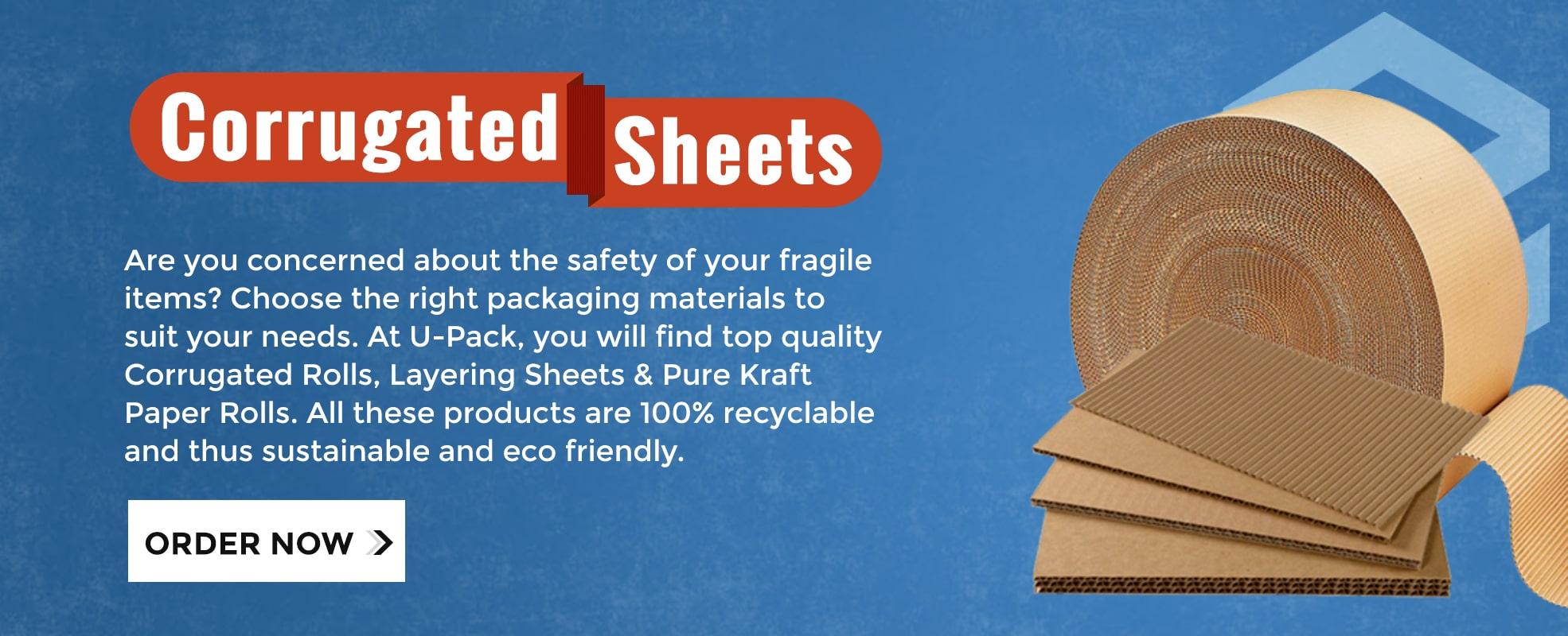 Upack Corrugated Sheets